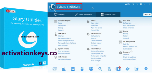 Glary Utilities Pro 5.139.0.165 Crack + Serial Key Latest Version (2020)