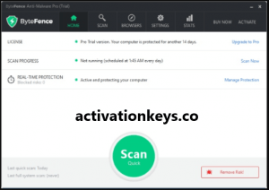 ByteFence Anti-Malware Pro 5.4.1.19 License Key + Crack Keygen [2019]