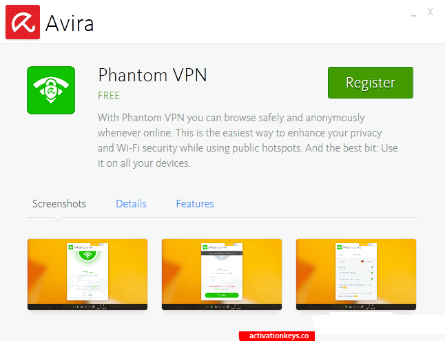 Avira Phantom VPN Pro 2.28.6.26289 Crack + Key 2020 Free Download
